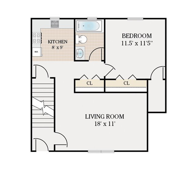 Floor Plans Colonial Village Apartments For Rent In